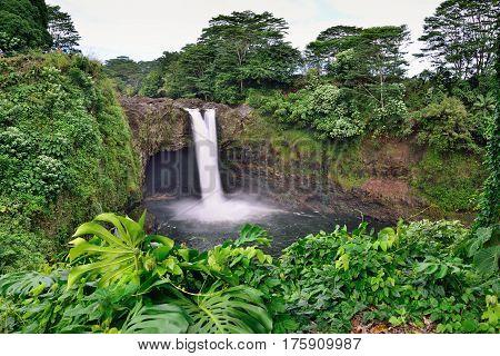 Rainbow Falls Near Hilo, Big Island Of Hawaii