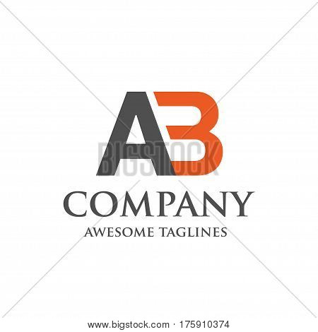 creative letter AB logo. Abstract business logo design template. modern Letter AB Logo template editable for your business.