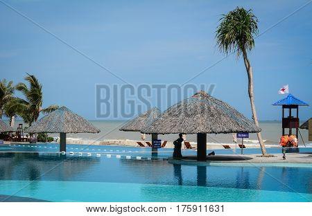 Swimming Pool At Hotel In Vung Tau, Vietnam