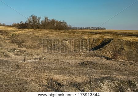 Abandoned quarry for the extraction of brick materials near the village of novoselivka in the Kharkov region (Ukraine). 2007