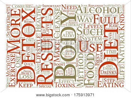 A Full Body Detox text background word cloud concept