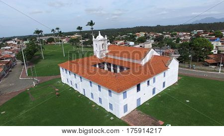 The Church Igreja dos Reis Magos in Nova Almeida, Espirito Santo, Brazil