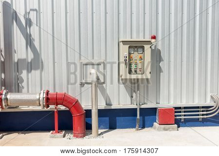 Station pump for fire protection system and control panel Equipment control panel.
