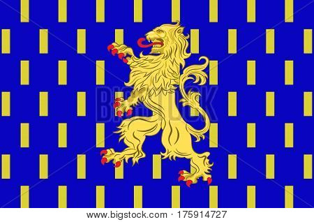 Flag of Nevers is the prefecture of the Nievre department in the Bourgogne-Franche-Comte region in central France. Vector illustration