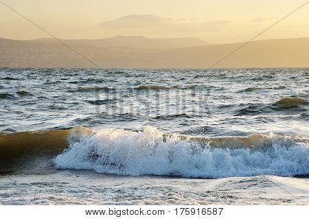 Lake Kinneret On The Sunset