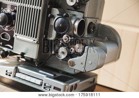 Vintage Film Projector, Close Up Photo