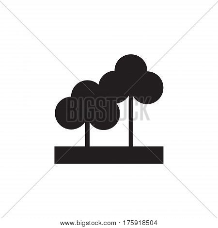 Vector icon or illustration showing paark, trees our otdoors in one color