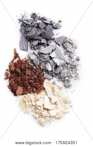 Makeup Eyeshadows Isolated On A White Background