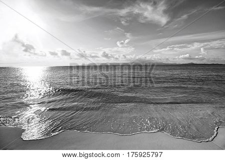 Water's edge on beach; Koh Pha Ngan; Thailand