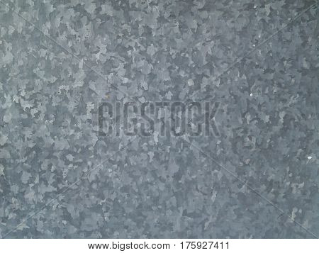 infinitely long and high wall of galvanized metal