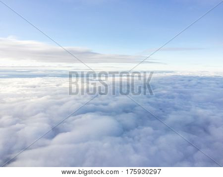 Cloudscape. Blue sky and white cloud. Sunny day. Cumulus cloud