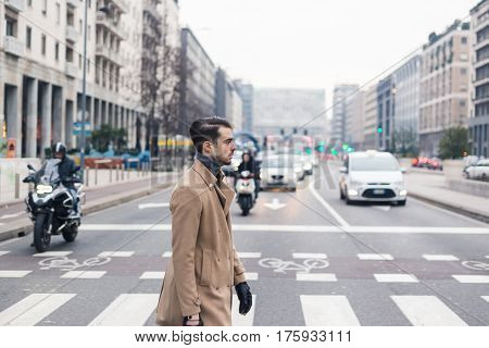 Beautiful Young Man Posing In An Urban Context
