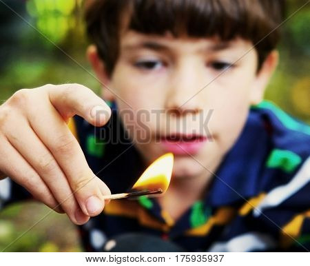 Naughty Boy Play With Fire Hold Match