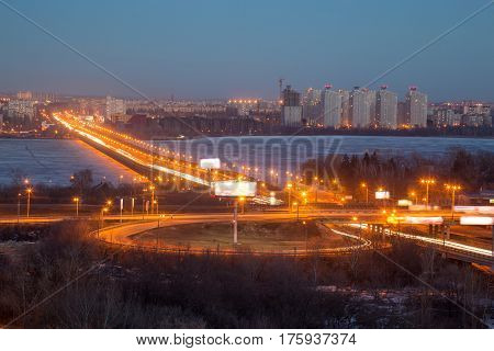 Voronezh highway. Transport interchange near North Bridge