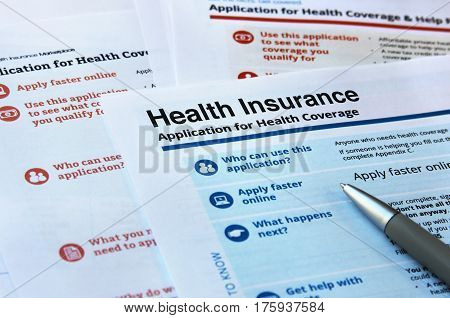 Forms and application for health insurance coverage