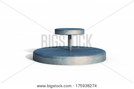 Two Tiers Of Round Stand Metal Copy