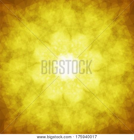 abstract vector spotted background - orange and yellow