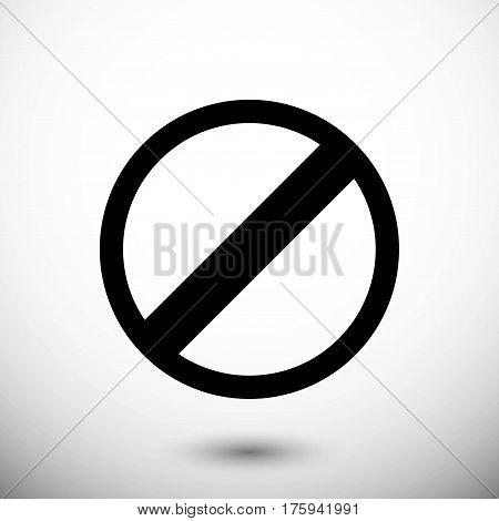 rescricted icon stock vector illustration flat design