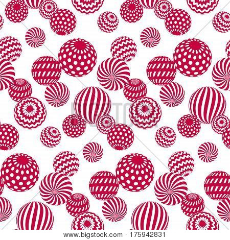 circle red beads on white background. creative modern geometry style seamless pattern for wrapping paper, music poster, flyers, backdrop. contemporary repeatable geometric motif inspired by Ukraine traditional stile