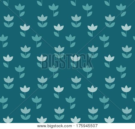 elegant color Holland tulip repeatable motif. simple laconic vector illustration design. seamless background for wrapping paper or fabric