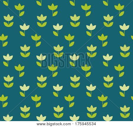 folk atyle Holland tulip repeatable motif. simple laconic vector illustration design. seamless background for wrapping paper or fabric