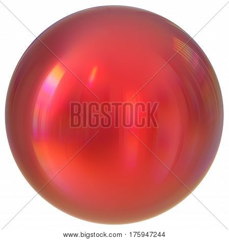 Red sphere round button ball basic circle geometric shape solid figure simple minimalistic atom element single blood drop shiny glossy sparkling object blank balloon icon. 3d render illustration