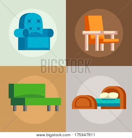 Couch sofa isolated home seat. Style interior comfortable sofa isolated fashion texture decor. Bed vector sleep furniture icon. Bed vector house information bedtime modern