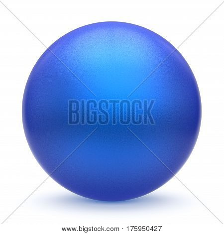 Sphere round button blue matted ball basic circle geometric shape solid figure simple minimalistic atom single drop object blank cyan balloon design element empty. 3d render illustration isolated