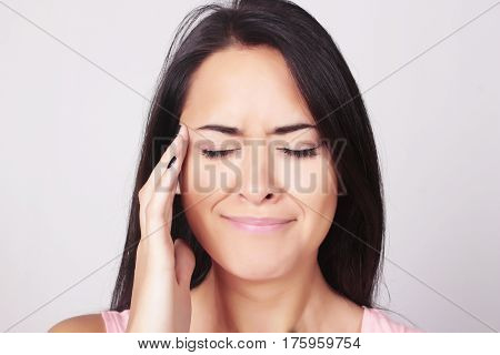 Young Woman With A Headache