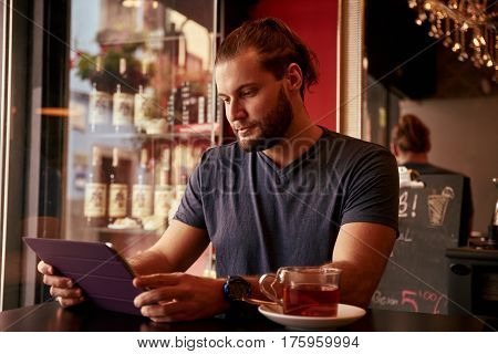 Goodlooking Young Man In A Pub