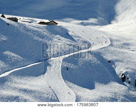 Ski lift in ski area Zillertal Austria