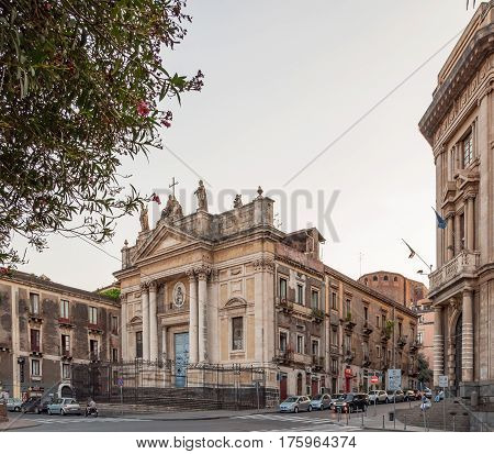 The Church Of San Biagio Is A Catholic Church In Catania