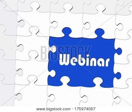 Webinar - online e-learning seminar puzzle with text