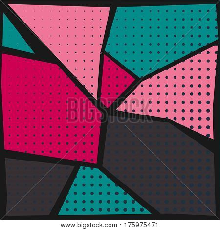 abstract colorful pop-art style background with halftone dots