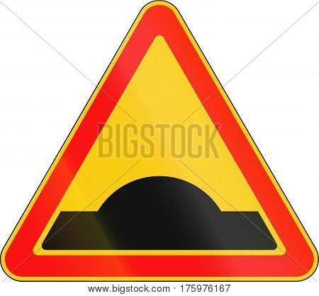Warning Road Sign Used In Belarus - Speed Bump