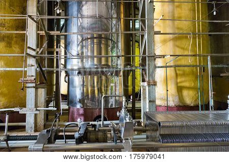 Industrial Equipment For The Production Of Champagne
