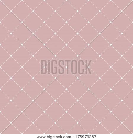 Geometric dotted purple and white pattern. Seamless abstract modern texture for wallpapers and backgrounds