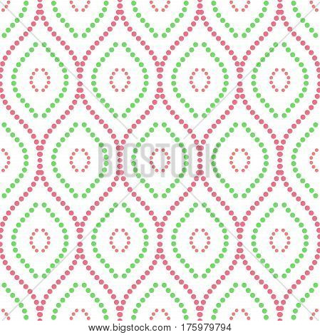 Seamless ornament. Modern geometric pattern with repeating colored wavy lines