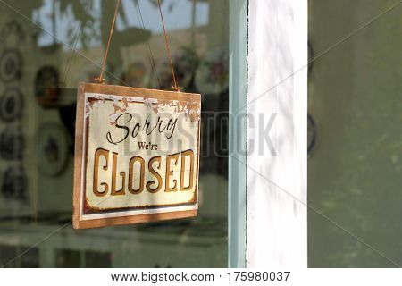 Vintage Closed Sign