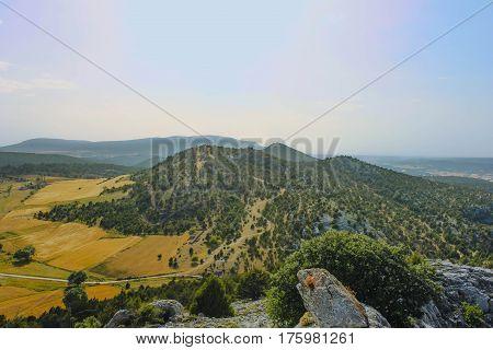 Mountains landscape ( Santo Domingo de Silos, Burgos, Spain)