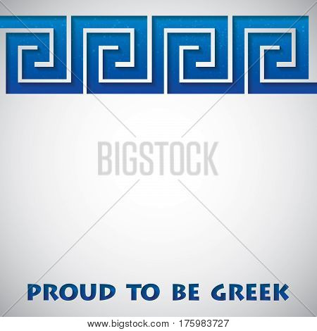 Cut Out Greek Meander Card In Vector Format.