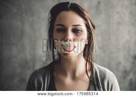 Girl Being Struck