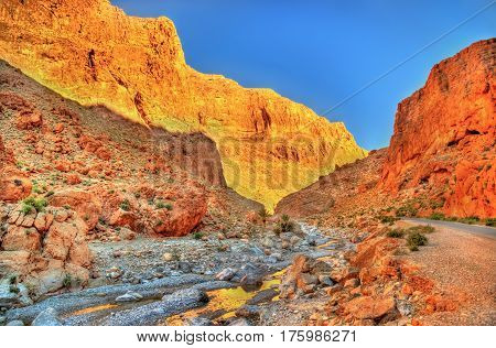Todgha Gorge, a canyon in the High Atlas Mountains in Morocco