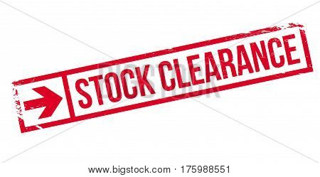 Stock clearance stamp. Grunge design with dust scratches. Effects can be easily removed for a clean, crisp look. Color is easily changed.
