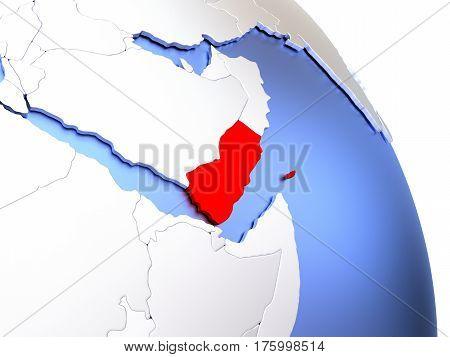 Yemen On Elegant Globe