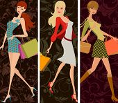 shopping girls poster