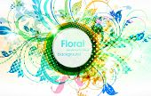 Abstract floral spring or summer background with colorful flower and floral ornament. eps 10. poster