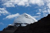 Kailash Yatra travel to TIBET China Kailas - the holiest mountain of Tibet. Object of pilgrimage of buddhist, hindu, jains and adepts of bon religion. Home of the Lord Shiva. poster