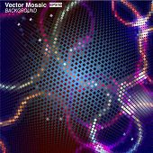 vector mosaic poster