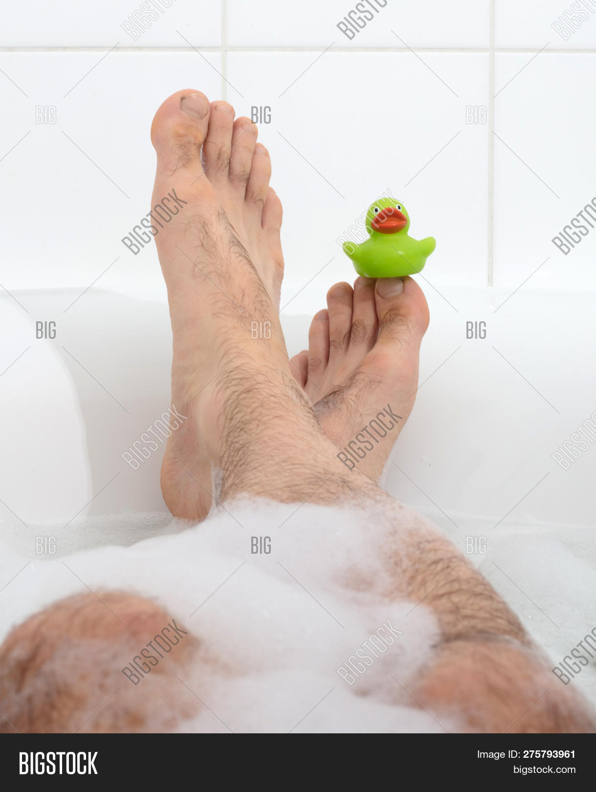 Hairy guys feet